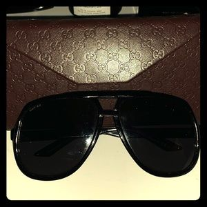 Gucci Oversize Aviator Sunglasses